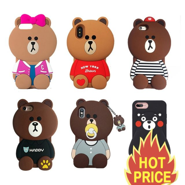 info for f3eee c6c7e Big Line Friends Brown Cases For iPhone X 8 7 6